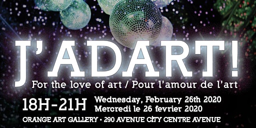 J'adart! For the love of art / Pour l'amour de l'art