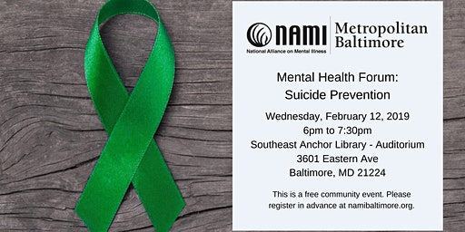 Mental Health Forum: Suicide Prevention