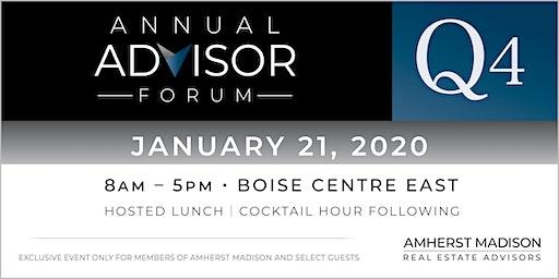 Annual Advisor Forum   Q4