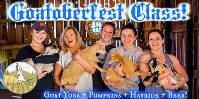 GOATOBERFEST at NY Goat Yoga (+ Overnight Glamping Option)