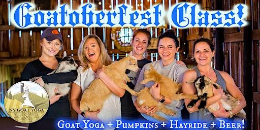 GOATOBERFEST at NY Goat Yoga (+ Overnight Glamping Option)