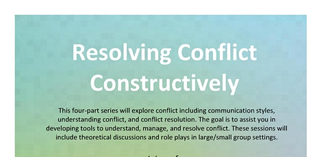 Resolving Conflict Constructively tickets