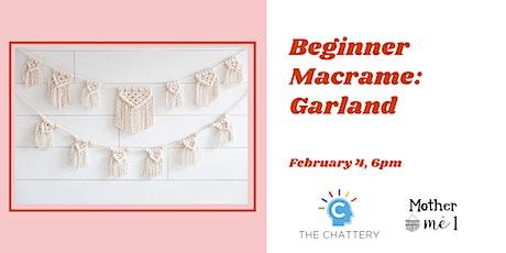 Beginner Macrame: Garland tickets