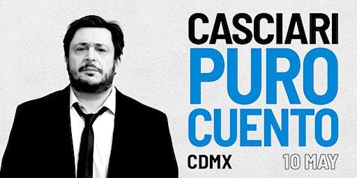 HERNÁN CASCIARI, «PURO CUENTO» — DOM 10 MAYO, Ciudad de México