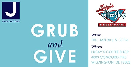 Grub & Give at Lucky's Coffee Shop tickets