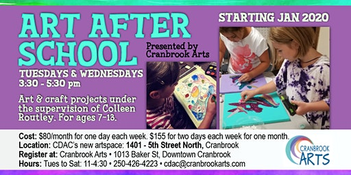 Art After School ONE DAY A WEEK (TUESDAYS)