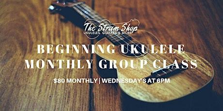 Beginning Ukulele Monthly Group Class tickets