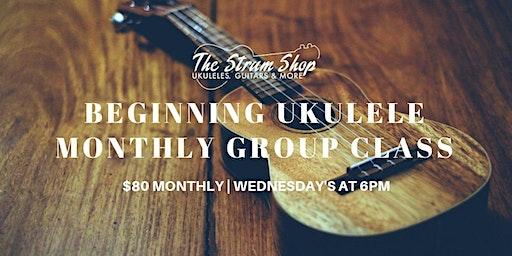 Beginning Ukulele Monthly Group Class