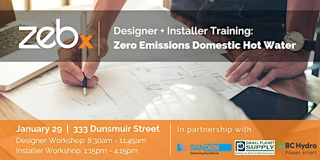 Designer and Installer Training for DHW Heat Pumps tickets