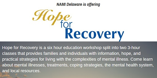 2 Part Hope for Recovery Workshop at Rockford Center