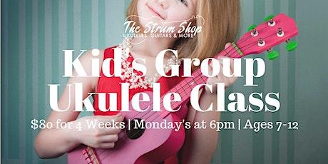 Kid's Beginning Ukulele Monthly Group Class tickets