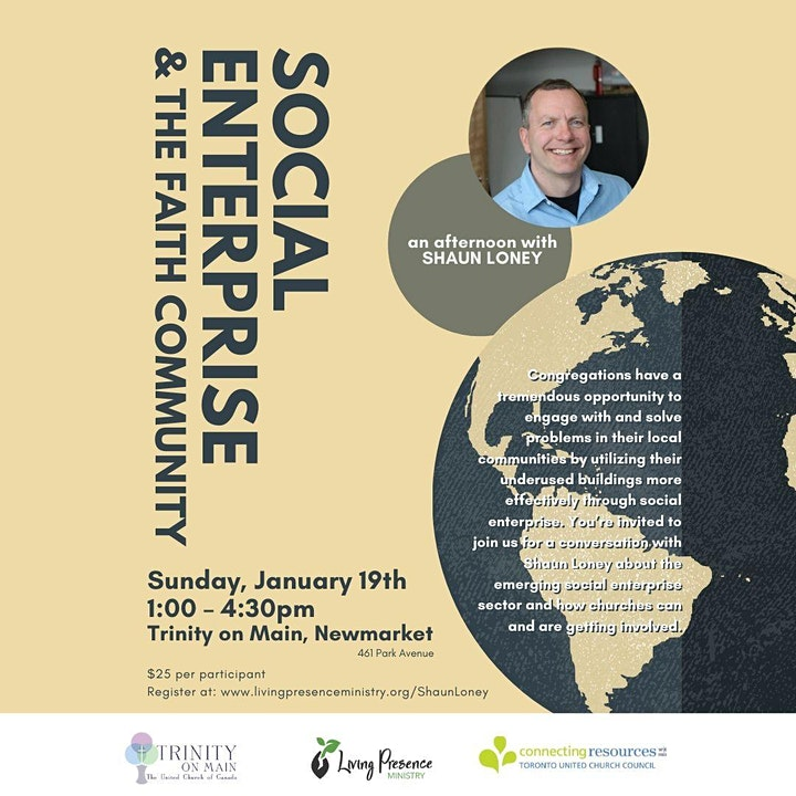 Communities of faith and social enterprise: An afternoon with Shaun Loney image