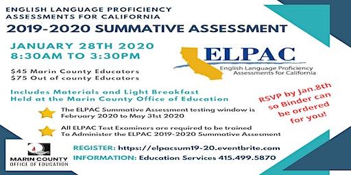 ELPAC Summative Assessment 2019-2020