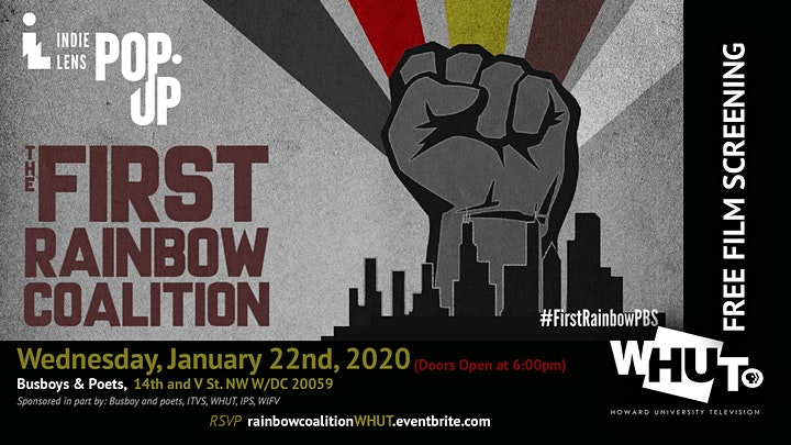 Free Film Screening - The First Rainbow Coalition image