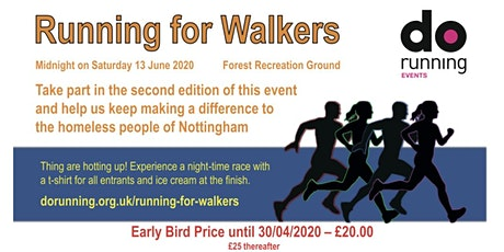 Running for Walkers Summer 2020 tickets