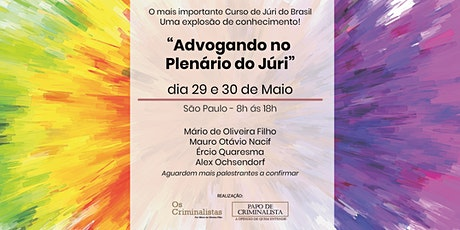 """Advogando  no Plenário do Júri"" ingressos"