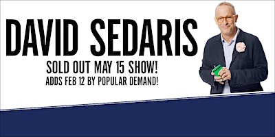 The Vancouver Writers Fest Presents An Evening with David Sedaris