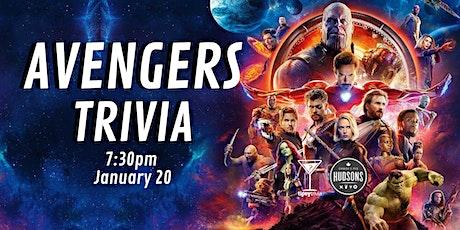 Avengers Trivia - Jan 20, 7:30pm - Hudsons Shawnessy tickets