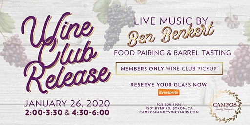 Winter Wine Club Release Party - Wine Club Members Only!
