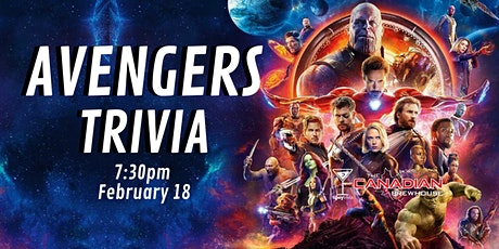 Avengers Trivia - Feb 18, 7:30 - CBH Ellerslie tickets