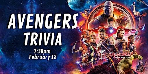 Avengers Trivia - Feb 18, 7:30 - CBH Ellerslie