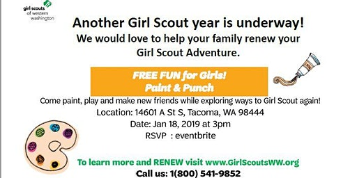 Paint & Punch with Girl Scouts