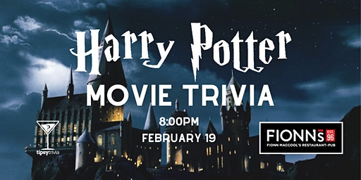 Harry Potter Movie Trivia - Feb 19, 8:00pm - Barrie Fionn MacCool's