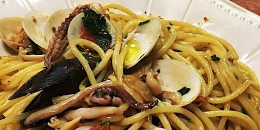 Spaghetti allo Scoglio (with seafood)