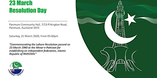 23 March - Resolution Day (Pakistan Day 2020)