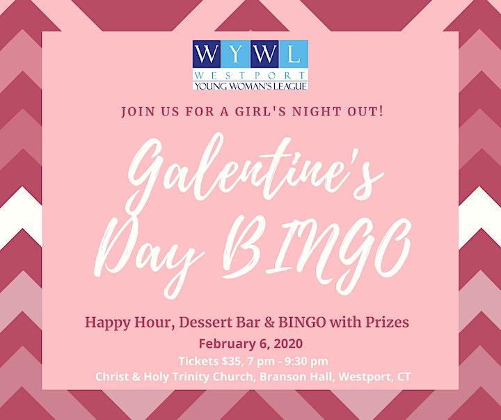 WYWL Galentine's Day BINGO, Girl's Night Out image