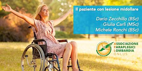 Le lesioni midollari: il paziente come docente biglietti