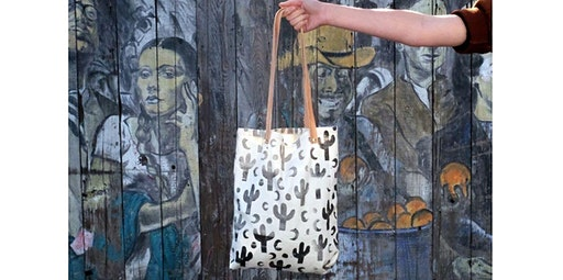 Print and Sew a Canvas Tote with Leather Handles with Jenny Lemons (02-08-2020 starts at 10:30 AM)