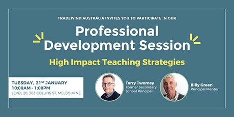 Professional Development Session: High Impact Teaching Strategies tickets