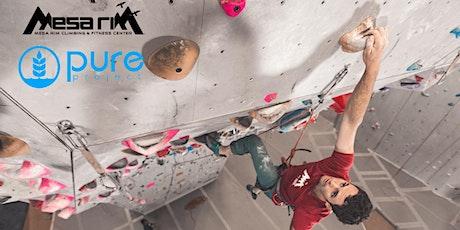 Pure in the Wild x Mesa Rim Indoor Climbing Adventure tickets