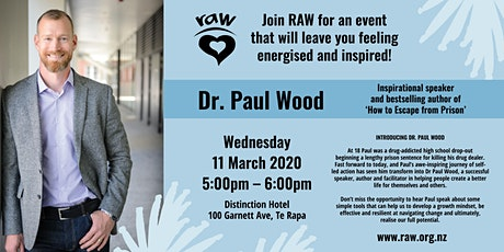RAW introducing Dr Paul Wood - How to Escape from Prison tickets