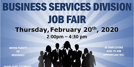 Buisness Services Division Job Fair