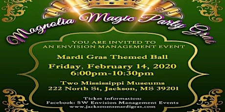 Mardi Gras-Magnolia Magic Party Gras Ball tickets