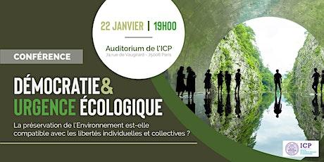 Conférence ICP : Démocratie & Urgence écologique billets