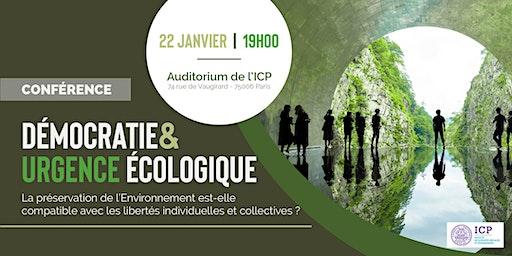 Conférence ICP : Démocratie & Urgence écologique