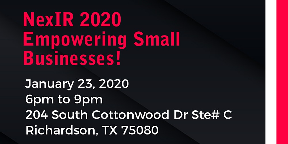 Nexir 2020 Eming Small Businesses Tickets Thu Jan