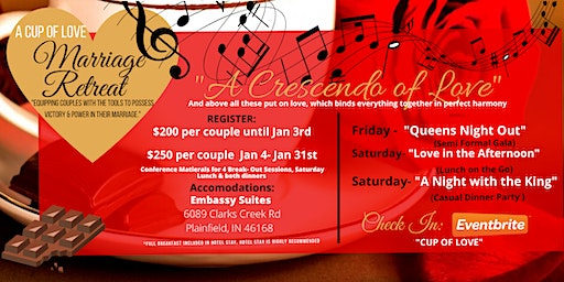 "A Cup of Love Marriage Retreat: ""A Crescendo of Love"""