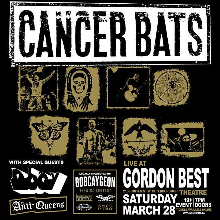 Cancer Bats // Anti-Queens // D Boy  live at the Gordon Best Theatre image
