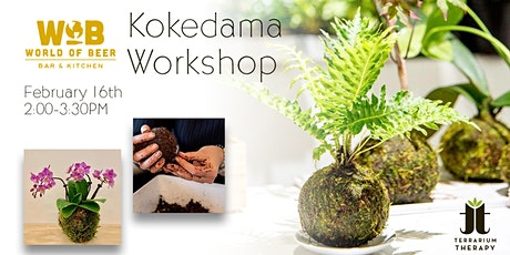 Orchid and Jade Kokedama Workshop at World of Beer Exton tickets