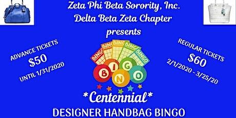 Delta Beta Zeta Centennial Designer Handbag Bingo 2020 tickets