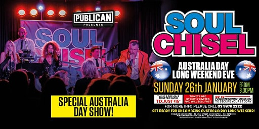 Soul Chisel The Ultimate Jimmy Barnes Tribute LIVE at Publican, Mornington!
