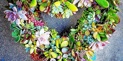 Succulent Heart Wreath Workshop At Eppig Brewing