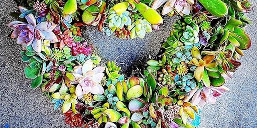 Succulent Heart Wreath Workshop At Alpine Beer Company Pub