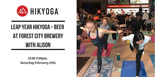 Leap Year Hikyoga + Beer  at Forest City Brewery with Alison