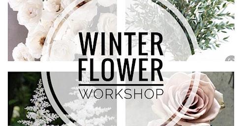 Winter flower arranging workshop.