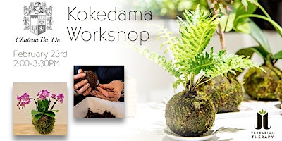 SOLD OUT Orchid  Kokedama /Jade Kokedama Workshop at Chateau Bu De Winery